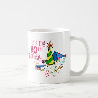 それはです私の第80誕生日(パーティーの帽子) コーヒーマグカップ