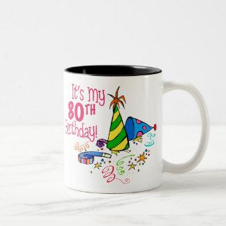 それはです私の第80誕生日(パーティーの帽子) ツートーンマグカップ