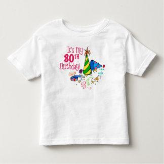 それはです私の第80誕生日(パーティーの帽子) トドラーTシャツ