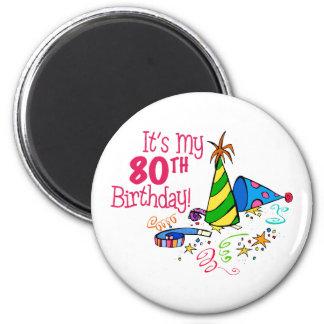 それはです私の第80誕生日(パーティーの帽子) マグネット