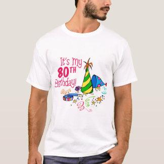 それはです私の第80誕生日(パーティーの帽子) Tシャツ