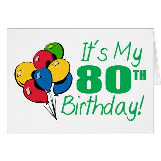 それはです私の第80誕生日(気球) グリーティングカード