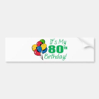 それはです私の第80誕生日(気球) バンパーステッカー