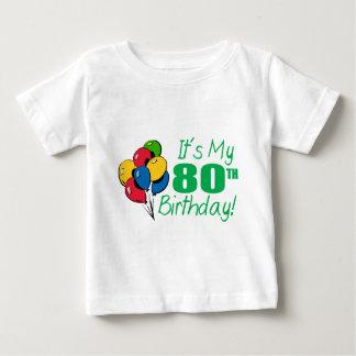 それはです私の第80誕生日(気球) ベビーTシャツ