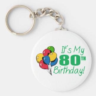 それはです私の第80誕生日(気球) ベーシック丸型缶キーホルダー
