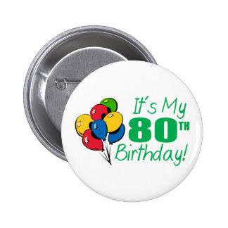 それはです私の第80誕生日(気球) 5.7CM 丸型バッジ