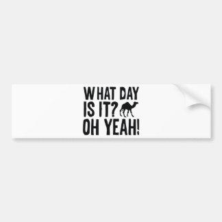 それはどんな日ですか。 Ohええ! こぶ日! バンパーステッカー