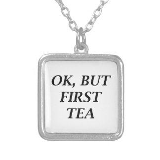 それはわかりましたが、最初茶 シルバープレートネックレス