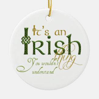 それはアイルランドの事です セラミックオーナメント