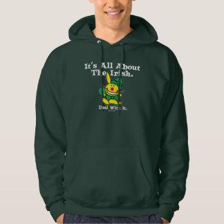 それはアイルランド語について完全にあります(緑) パーカ