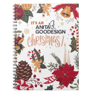 それはアニータGoodesignのクリスマスのノートです! ノートブック