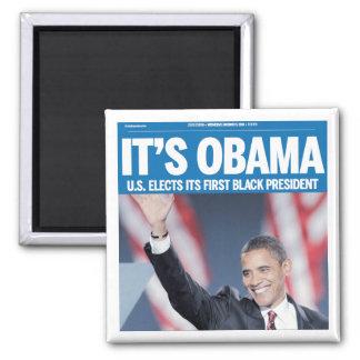 それはオバマの見出しの磁石です マグネット