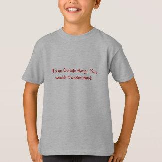 それはオビエドの事のTシャツです Tシャツ