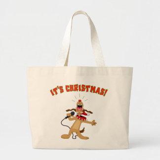 それはクリスマスです! ラージトートバッグ