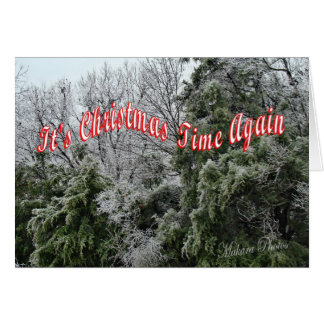 それはクリスマスの時間再度カスタマイズです カード
