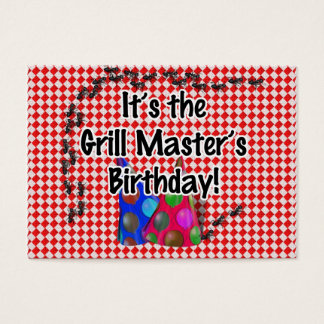 それはグリルのマスターの誕生会です! 名刺