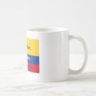 それはコロンビアないコロンビアを綴りました コーヒーマグカップ