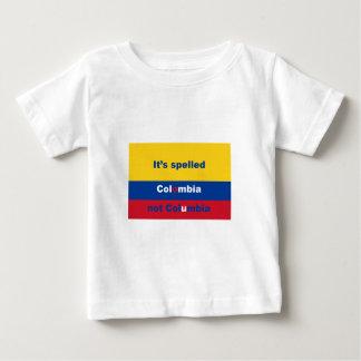 それはコロンビアないコロンビアを綴りました ベビーTシャツ