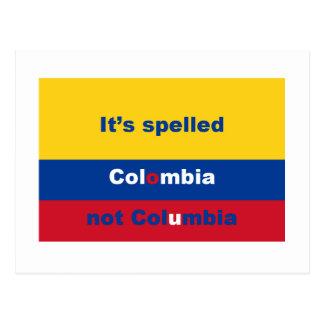 それはコロンビアないコロンビアを綴りました ポストカード