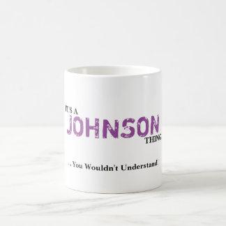 それはジョンソンの事です! 理解しません コーヒーマグカップ