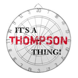 それはトムソンの事です! ダーツボード