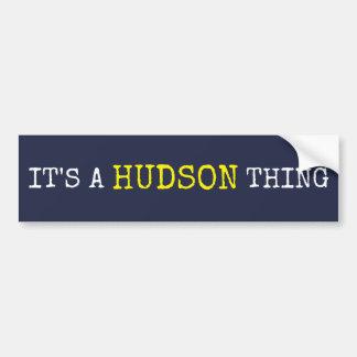 それはハドソンの事です バンパーステッカー