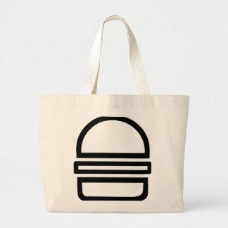 それはハンバーガーです! (ジャンボトート) ラージトートバッグ