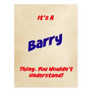 それはバリーの事です。 理解しません! ポストカード