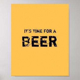 それはビールの時間です ポスター