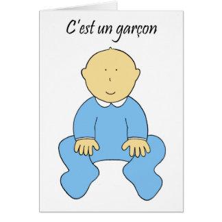 「それはフランスのな、c'est国連garcon.の男の子」です グリーティングカード