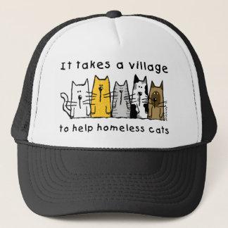 それはホームレス猫を救済するために村を取ります キャップ