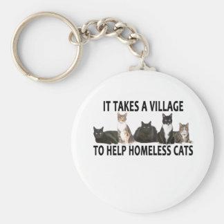 それはホームレス猫を救済するために村を取ります。 キーホルダー
