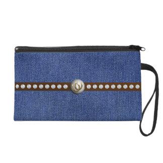 それは女性のカーボーイのThangのwristletの財布袋です リストレット