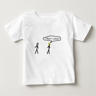 それは彼女が棒の姿のデザインを言ったことです ベビーTシャツ