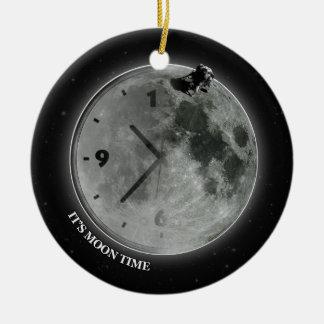 それは月の時間です セラミックオーナメント