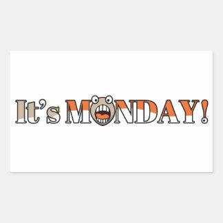 それは月曜日です! 長方形シール