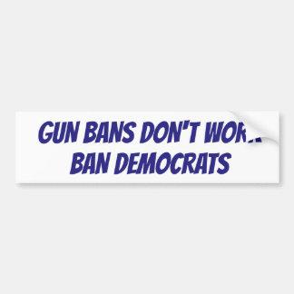 それは民主党員を禁止する時間です バンパーステッカー