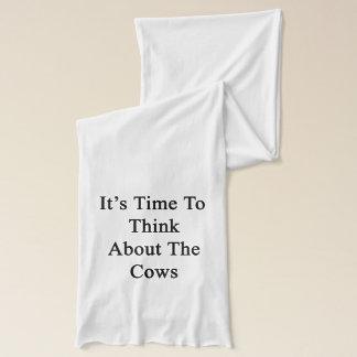それは牛のことを考える時間です スカーフ