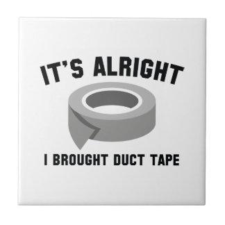 それは申し分なく私持って来ましたガムテープをです タイル