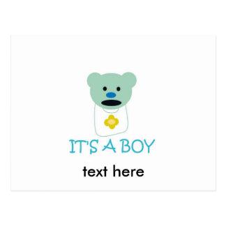 それは男の子です ポストカード