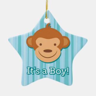 それは男の子です! -青い猿の星のオーナメント セラミックオーナメント