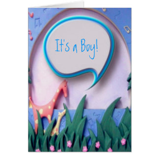 それは男の子の新生児の発表です カード