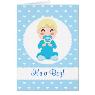 それは男の子の男の赤ちゃんのデザインです カード