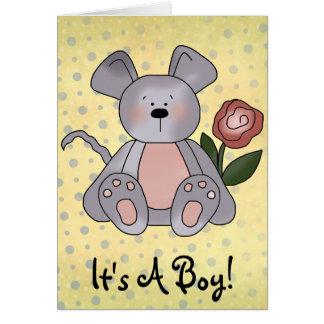 それは男の子の発表です カード
