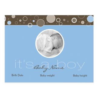 それは男の子-青い郵便はがきの点-加えますあなたの写真をです ポストカード