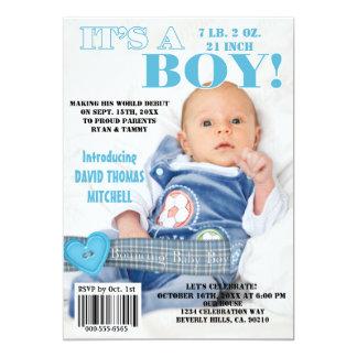 それは男の赤ちゃんの雑誌カバーを跳ねるAです カード