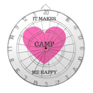それは私に幸せなキャンプをします ダーツボード