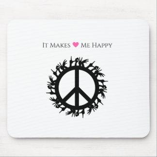 それは私に幸せ平和をします マウスパッド