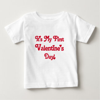 それは私の最初バレンタインデーです ベビーTシャツ