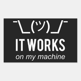 それは私の機械-プログラマー弁解の白で動作します 長方形シール